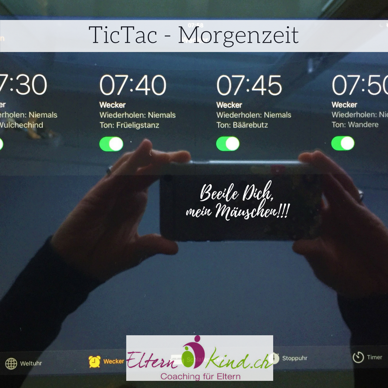 TicTac Stress am Morgen